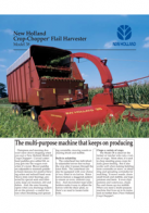 crop chopper flail pdf new holland agriculture