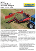 h5400 windrow merges pdf new holland agriculture