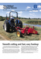 sicklebar mowers pdf new holland agriculture